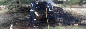 Un incendio quema 30 metros cuadrados de rastrojo en Sant Antoni