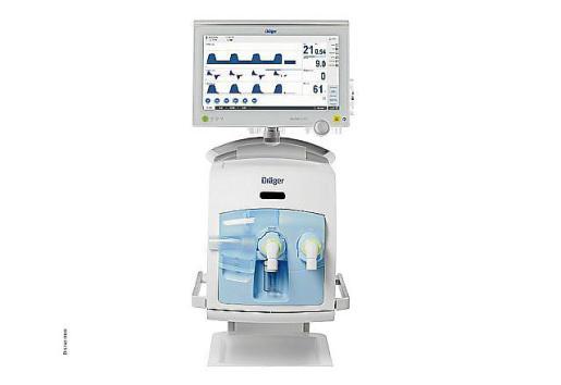 Modelo del equipo de ventilación asistida donado.