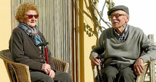 Na Catalina i en Pep, durant la gravació de 'Sa Cadira des Majors', en febrer de 2019.