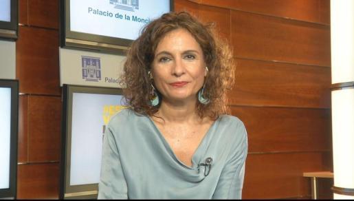 La ministra María Jesús Montero durante su intervención en Antena 3 TV