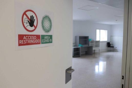 Área de pacientes con coronavirus Covid-19.