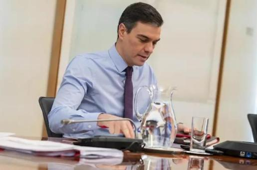 El presidente del Gobierno, Pedro Sánchez, se reúne con los presidentes de las Comunidades y Ciudades Autónomas por videoconferencia, en Madrid (España) a 12 de abril de 2020. - Moncloa
