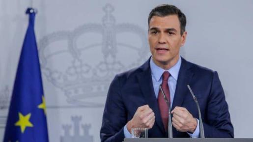 Pedro Sánchez, durante una rueda de prensa.