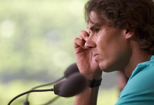 El tenista español Rafael Nadal comparece ante los medios en una imagen de archivo