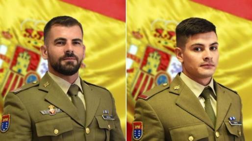 El sargento González y el soldado Torres, en las imágenes compartidas por el Ejército de Tierra.