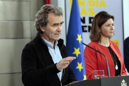 Fernando Simón, durante una ruedad de prensa.