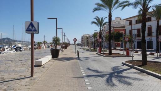 El puerto de Ibiza durante el estado de alarma.