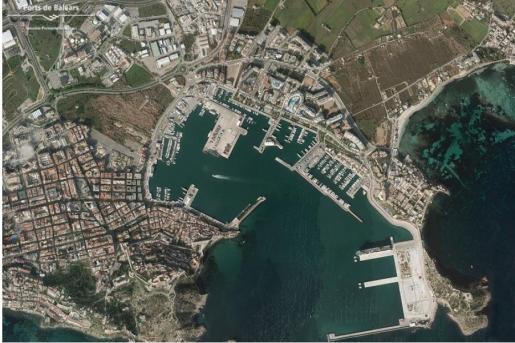Vista aérea del Puerto de Ibiza