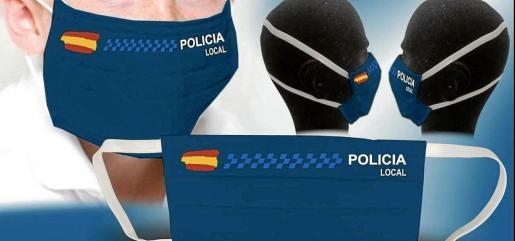 Imagen de las mascarillas que ha comprado esta joven 'portmanyina' para los agentes de Sant Antoni.