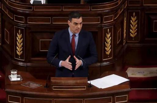 Pedro Sánchez, durante la sesión.