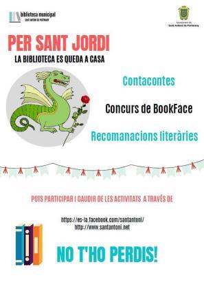 Cartel anunciante de las actividades de Sant Jordi en Sant Antoni.