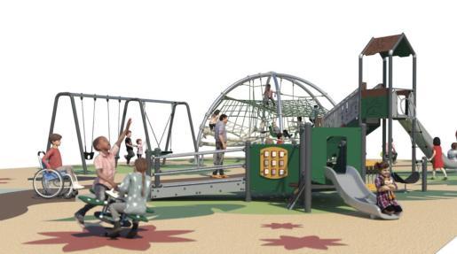 Simulación del parque.