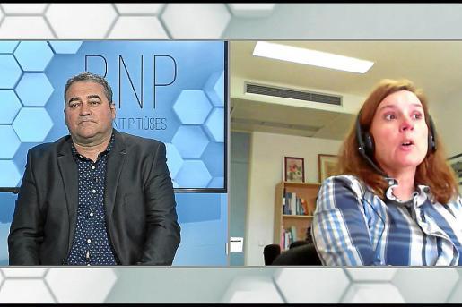 La gerente del Área de Salud de Ibiza y Formentera, Carmen Santos, interviene en el BNP.