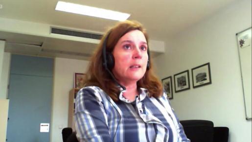 Carmen Santos, durante su entrevista en el BNP.
