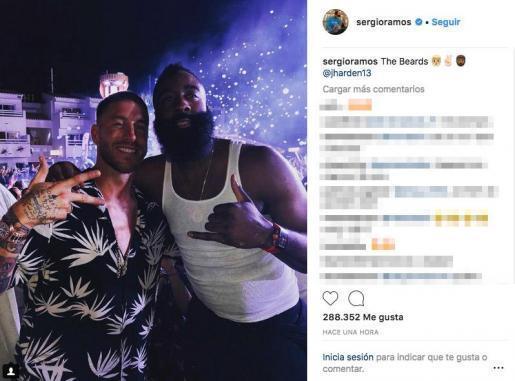 Sergio Ramos y James Harden, de fiesta en Ibiza