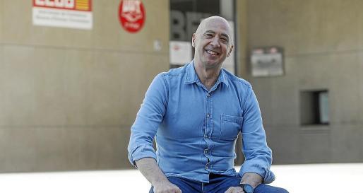 El secretario general de CCOO de Ibiza y Formentera, Felipe Zarco, en la sede sindical.