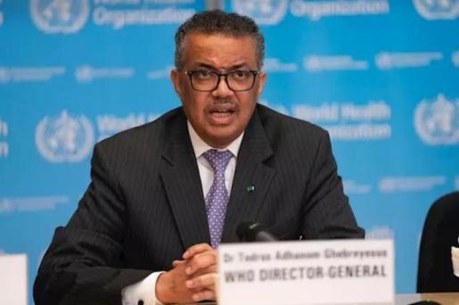 El director general de la Organización Mundial de la Salud (OMS), Tedros Adhanom Ghebreyesus, en la conferencia de prensa sobre COVID-19 - 9 de marzo de 2020 - OMS - Archivo