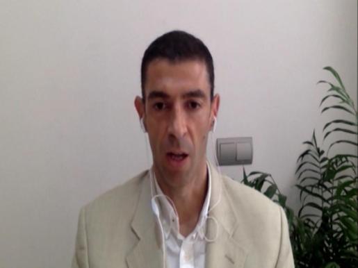 Alejandro Sancho durante la entrevista virtual en BNP.