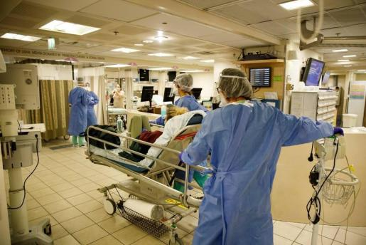 Foto de archivo de una zona de atención a personas afectadas por coronavirus
