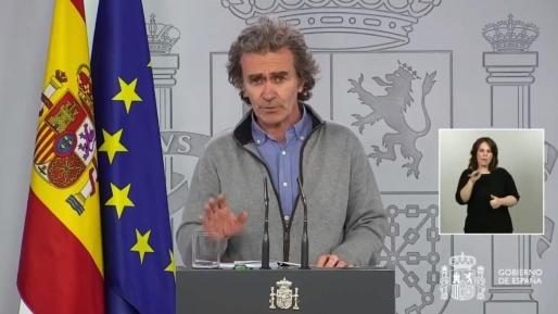 Fernando Simón, durante la rueda de prensa.
