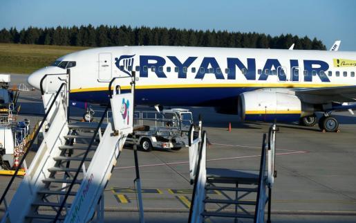 Imagen de archivo de un avión de Ryanair.
