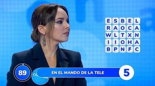 Chenoa, durante su participación en el estreno de 'Pasapalabra' en Antena 3.