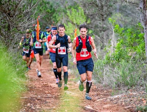 Un instante del Ibiza Trail Maratón del año pasado.