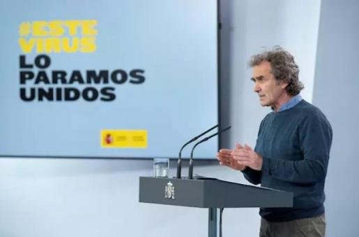 Fernando Simón en la rueda de prensa - POOL MONCLOA
