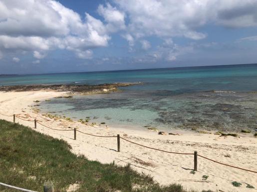 Una playa de Formentera.