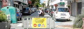 Pocos peatones para las calles cerradas en el tercer fin de semana de 'Eivissa Oberta'