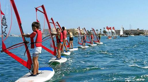 Una imagen de la Escuela de Vela de Formentera.