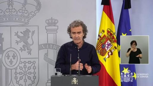 Fernando Simón, durante su intervención hoy jueves.