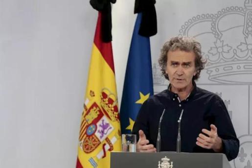 Fernando Simón, durante la rueda de prensa - Moncloa