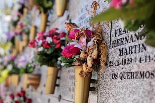 Nichos del Cementerio Sur-Carabanchel de Madrid, a 18 de mayo de 2020 - JESÚS HELLÍN - EUROPA PRESS