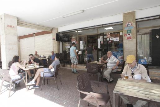 La terraza de un bar en Ibiza durante la fase 2.
