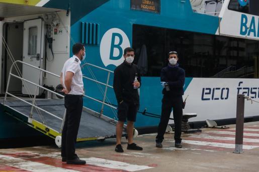 Ferry de Baleària que cubre la conexión Ibiza-Formentera durante el estado de alarma.
