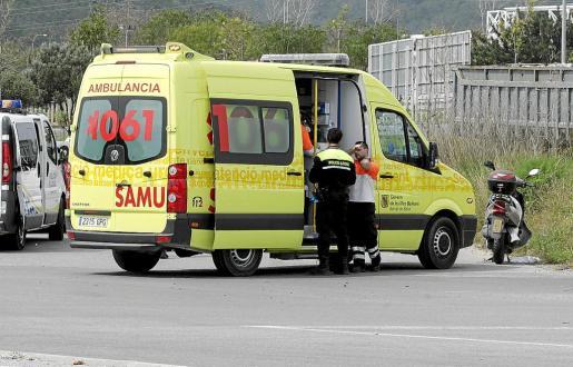 El accidente se produjo el domingo por la noche en la avenida de Sant Jordi, en la imagen.