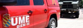 La UME posiciona efectivos y medios de lucha contra incendios en Ibiza