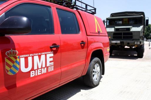 Efectivos de la UME en Ibiza.