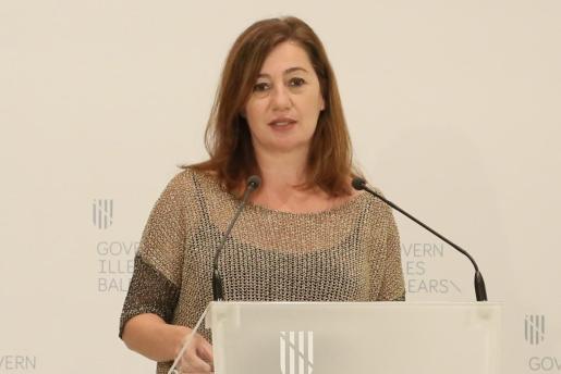 La presidenta del Govern, Francina Armengol, ayer en rueda de prensa.
