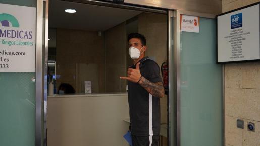 Diego Mendoza, antes de someterse a las pruebas médicas.