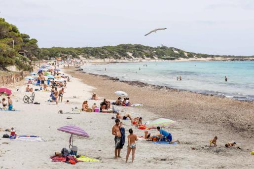 Una de las playas de Ibiza durante el estado de alarma.