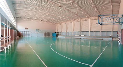 Interior del polideportivo Quartó de Portmany.