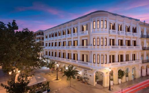 Fachada del Gran Hotel Montesol Ibiza.