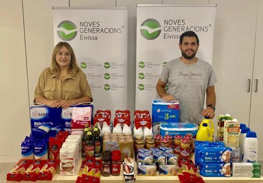 NNGG Ibiza se suma a la campaña de recogida de alimentos para las familias afectadas por la Covid-19.