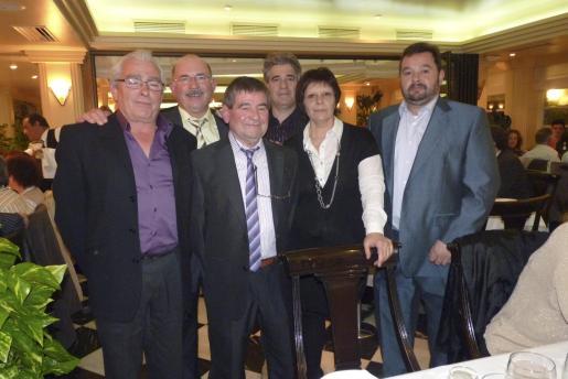 Pedro Grimalt, Francisco Jaume, Jaume Llodrá -presidente de la Asociación Balear de la Madera-, Félix Barragan, Francisca Durán y Antoni Adrover.