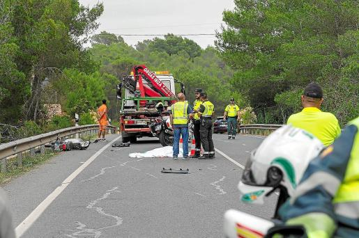 Accidente mortal de un motorista en Sant Rafel.