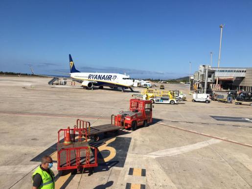 Avión de Ryanair procedente de Milán Bérgamo (Italia).