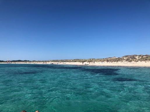 Una imagen de la playa de Illetes, en Formentera.