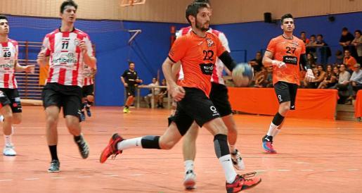 Marc Sánchez, durante un partido del HC Eivissa de la pasada temporada.